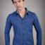 เสื้อเชิ้ตผู้ชายสีน้ำเงิน ผ้า Oxford thumbnail 1