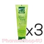 (ซื้อ3 ราคาพิเศษ) Vitara Aloe Vera Cool Gel Plus 99.5% with Cucumber 120g เจลว่านหางจระเข้เข้มข้น และสารสกัดจากแตงกวา บำรุงผิวดีเยี่ยม ไม่มีน้ำหอม-แอล