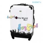 Fanfastico กระเป๋าเดินทางไนท์แอนด์เดย์ 28 นิ้ว (71 ซม.) - สีขาว