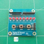 Digital IO Board บอร์ดทดสอบ I/O สำหรับไมโครคอนโทรลเลอร์