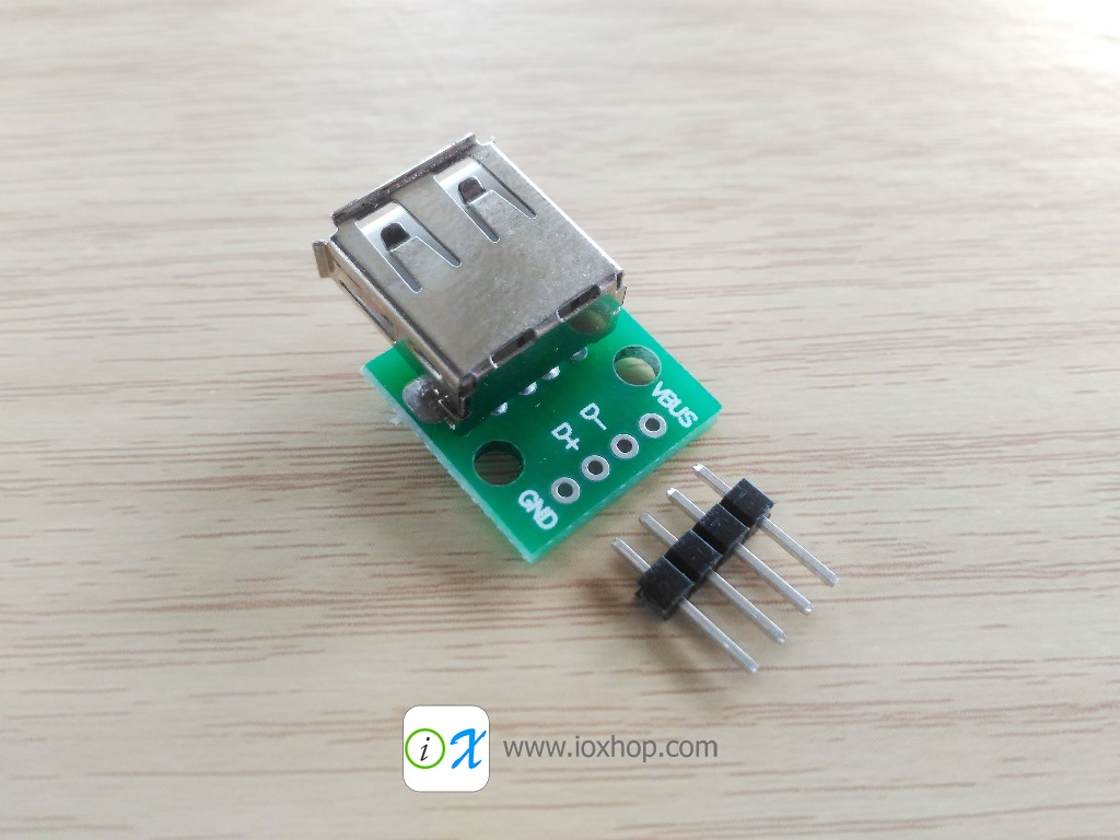 USB Type-A Female Connector Adapter Breakout