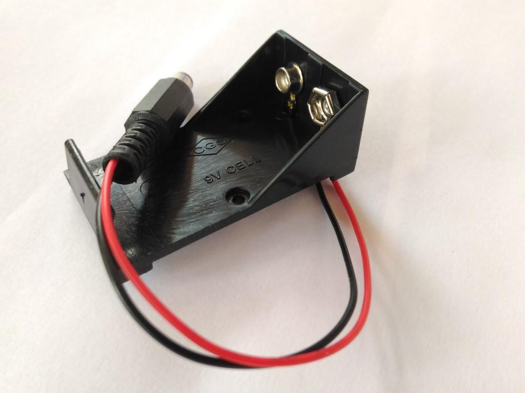 9V Box DC Plug Socket Battery Holder For Arduino