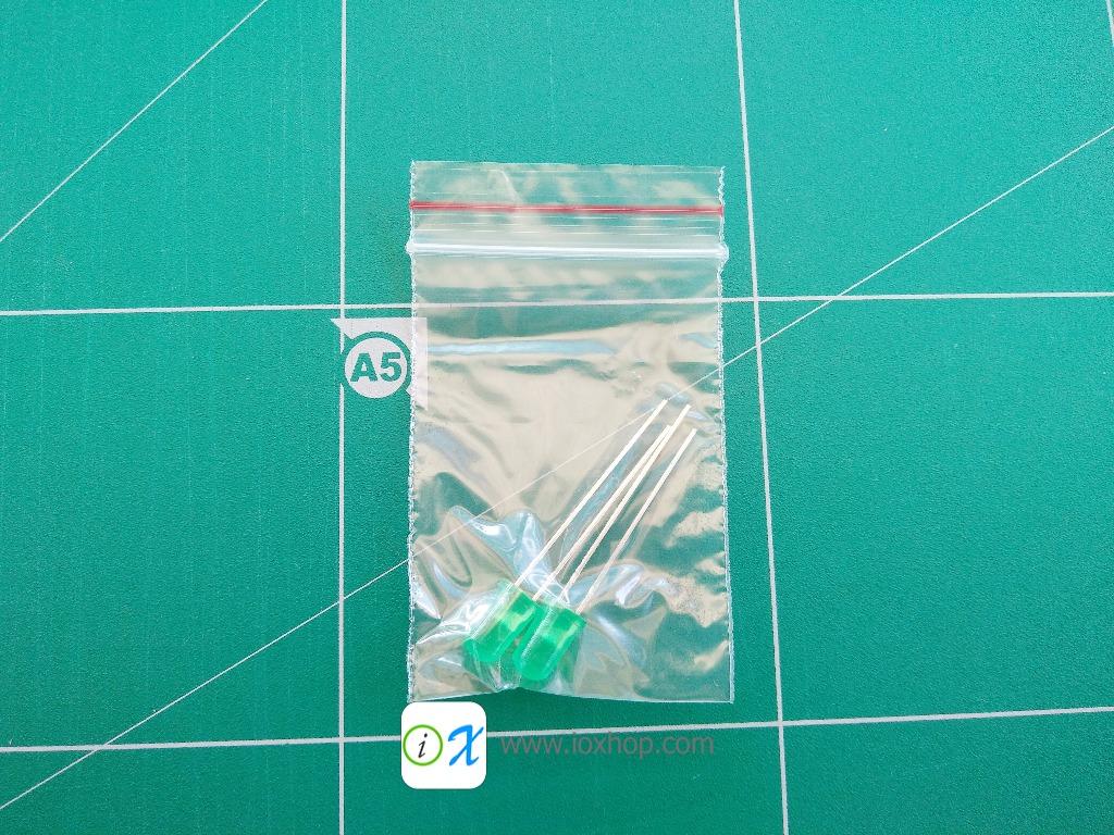 LED 5MM สีเขียว 2 ดวง