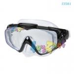 Intex หน้ากากดำน้ำ อาควา โปร ซิลิโคน สีดำ รุ่น 55981