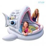 Intex สระเด็กเล็กที่บังแดด ฉลาม รุ่น 57120
