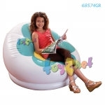 Intex เก้าอี้เป่าลม ลายดอกไม้ บรอสซั่ม (สีเขียว) รุ่น 68574