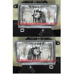 ไฟหน้าเพชร TOYOTA MIGHTY-X 95-98 ขาว หน้ากระจก (รุ่นหน้าเต็ม)