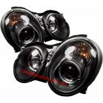 ไฟหน้าโปรเจคเตอร์ BENZ CLK W208 98-02 ดำ วงแหวน