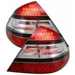 ไฟท้าย BENZ E-CLASS W211 03-09 ขาวแดง LED (ทรง AMG)