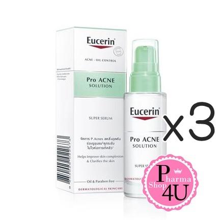 (ซื้อ3 ราคาพิเศษ) EUCERIN Pro ACNE SOLUTION SUPER SERUM 30mL ผลิตภัณฑ์บำรุงผิวหน้าสำหรับผู้มี ปัญหาสิวและร่องรูขุมขนกว้าง