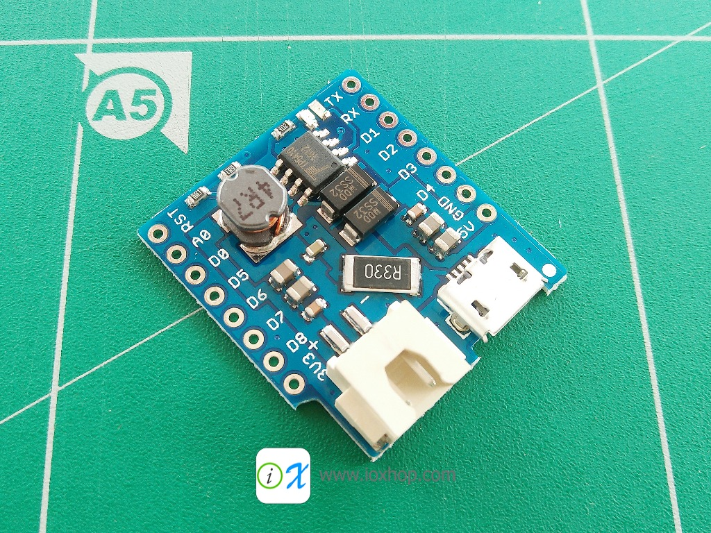Battery Shield For WeMos D1 mini