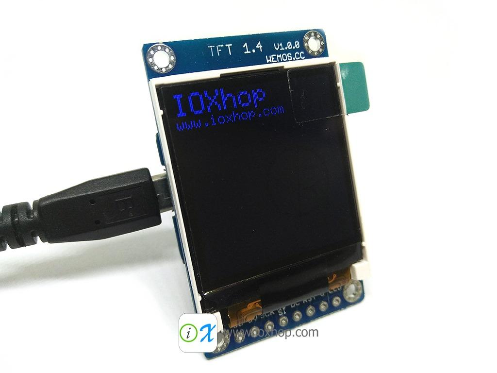 TFT 1.4 inch Shield V1.0.0 for WeMos D1 mini