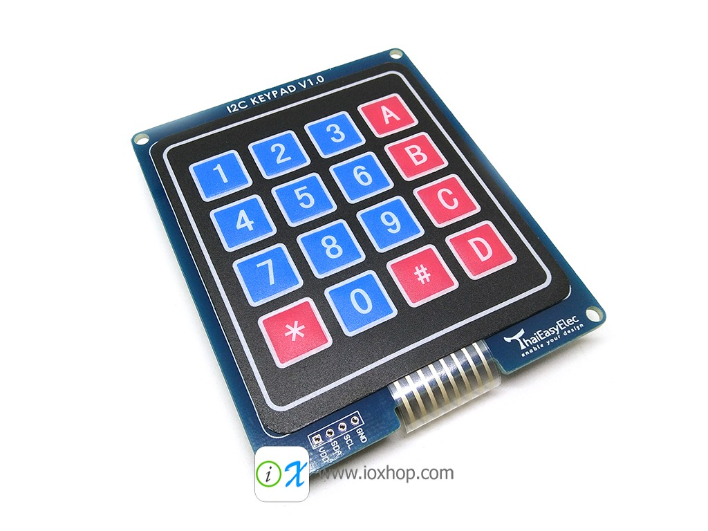 TEE I2C Keypad - 4x4 Keypad I2C Two-wire bus