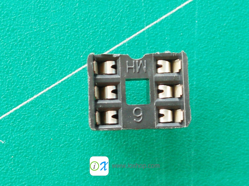 ซ็อกเก็ตไอซี 6 ขา DIP6 DIP-6 IC Socket