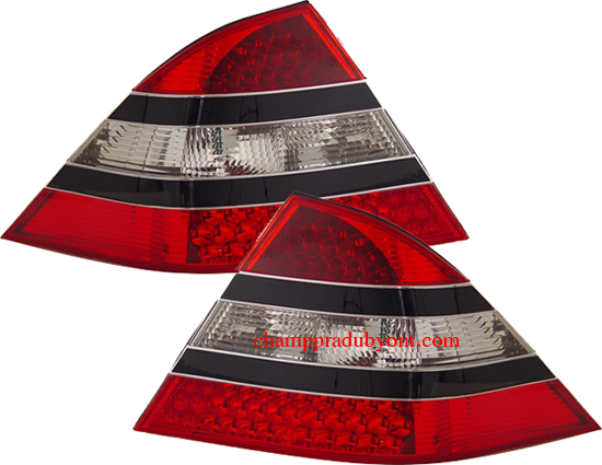 ไฟท้าย BENZ S-CLASS W220 98-05 ขาวแดง LED (AMG)