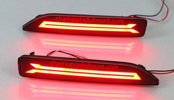 ไฟทับทิมกันชนท้าย HONDA CR-V 2007-2010 แดง LED (V.2)