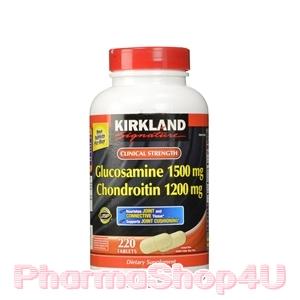 ***หมด*** Kirkland Glucosamine 1500mg Chondroitin 1200mg 220เม็ด แก้ปัญหาปวดเข่าและข้อต่อต่างๆเนื่องจากการเสื่อมของข้อต่อ