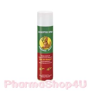 Kangaroo Eucalyptus Spray 300 mL จิงโจ้ ยูคาลิปตัส สเปรย์ มีความปลอดภัย พร้อมให้กลิ่นหอม สดชื่น โล่งจมูก