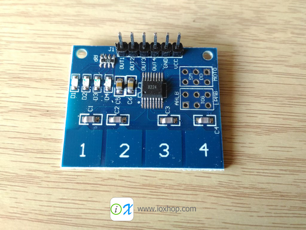 TTP224 4 Channel Capacitive Touch Switch Module