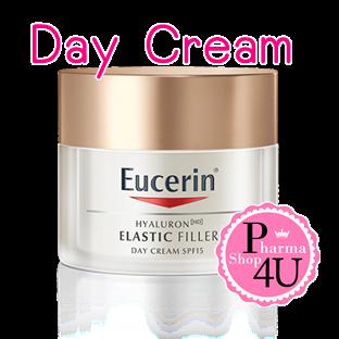 Eucerin Elastic Filler Day Cream SPF15 50มล ยูเซอรินบำรุงผิวหน้า ลำคอ ผสมกันแดด เทคโนโลยีการยกกระชับตาข่ายผิว