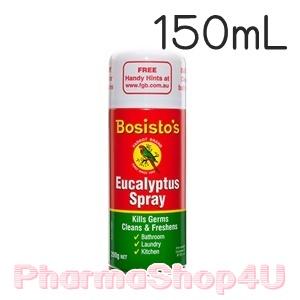 Bosisto's Eucalyptus Spray 150 mL โบสิสโต นกแก้ว สเปรย์ปรับอากาศยูคาลิปตัส สเปรย์สารพัดประโยชน์จากธรรมชาติ มีกลิ่นหอม