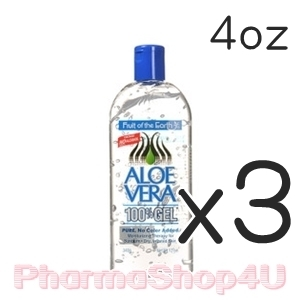 (ซื้อ3 ราคาพิเศษ) Fruit of the Earth Aloe Vera 100% Gel 113g (4oz) เจลว่านหางจระเข้บริสุทธิ์ เย็นสดชื่น ช่วยให้ผิวผ่อนคลาย เก็บกักความชุ่มชื้น ฟื้นฟูผิวจากความเสียหาย