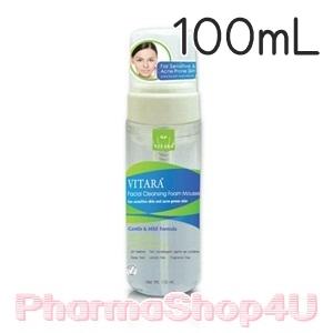 VITARA Facial Cleansing Foam Mousse 100mL มูสโฟมทำความสะอาดผิวหน้าที่นุ่มนวล ลดการสะสมของแบคทีเรีย