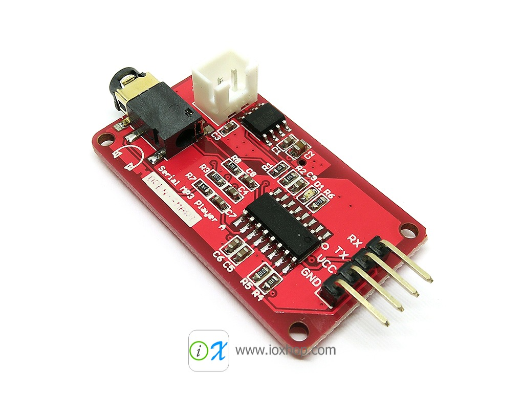 โมดูล MP3 UART Serial MP3 Music Player Module with 3W Monaural Amplifier