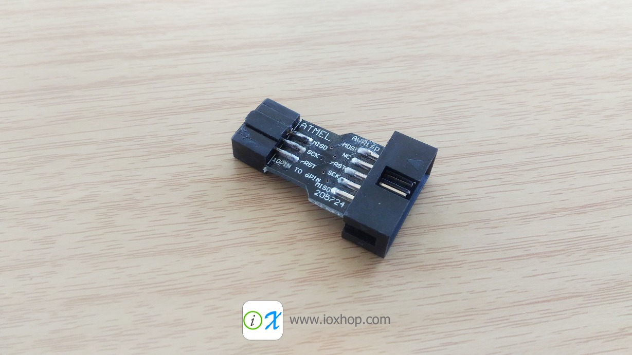 10 Pin to Standard 6 Pin Adapter Board For ATMEL AVRISP USBASP STK500