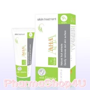 VITARA AHA 9% Skin Treatment Cream 25G ไวทาร่า เอ เอช เอ สารสกัดจากกรดผลไม้ ช่วยให้ผิวกระจ่างใสขึ้น ลดฝ้า กระ จุดด่างดำบนใบหน้า