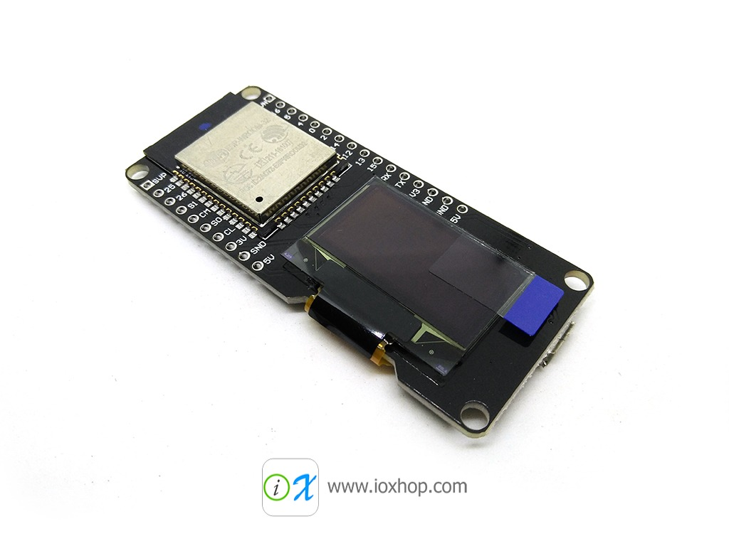 ESP32 + OLED 128x64 on one board