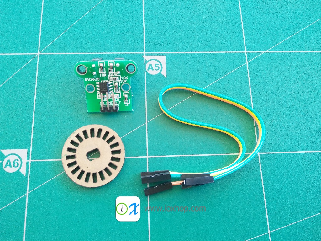 HC-020K Speed Measuring Sensor Module with Photoelectric Encoders