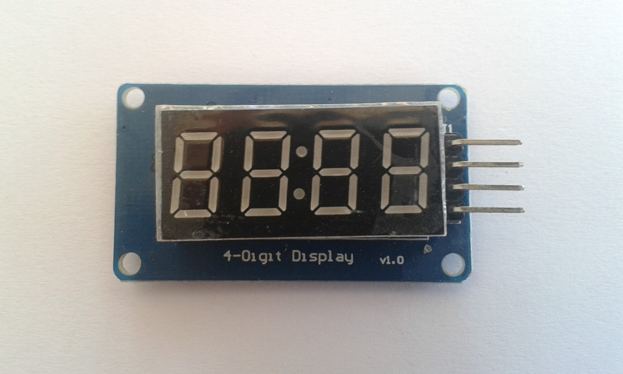 Clock Display 4 Bits Digital Tube LED Display Module
