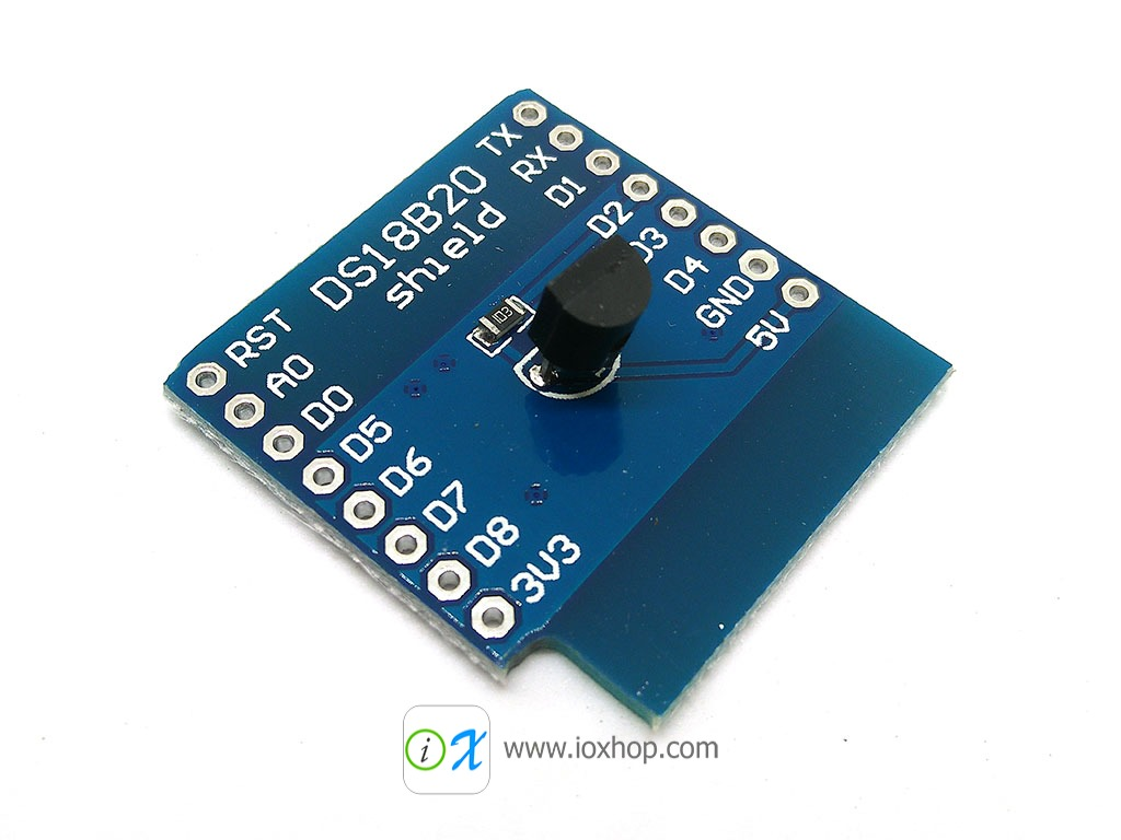 DS18B20 Shield for WeMos D1 mini (Clone)