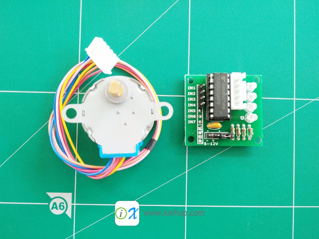 Stepper Motor + Driver Board ULN2003