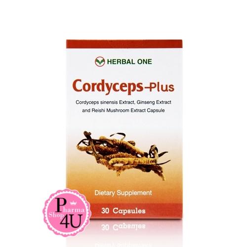 Herbal one ถังเช่า ตังถั่งเฉ้า-พลัส Cordyceps-plus 30 เม็ด ยาอายุวัฒนะ บำรุงร่างกาย บำรุงปอด ตับ ไต สารสำคัญที่พบคือ Cordycepinเเละ Polysaccharides.