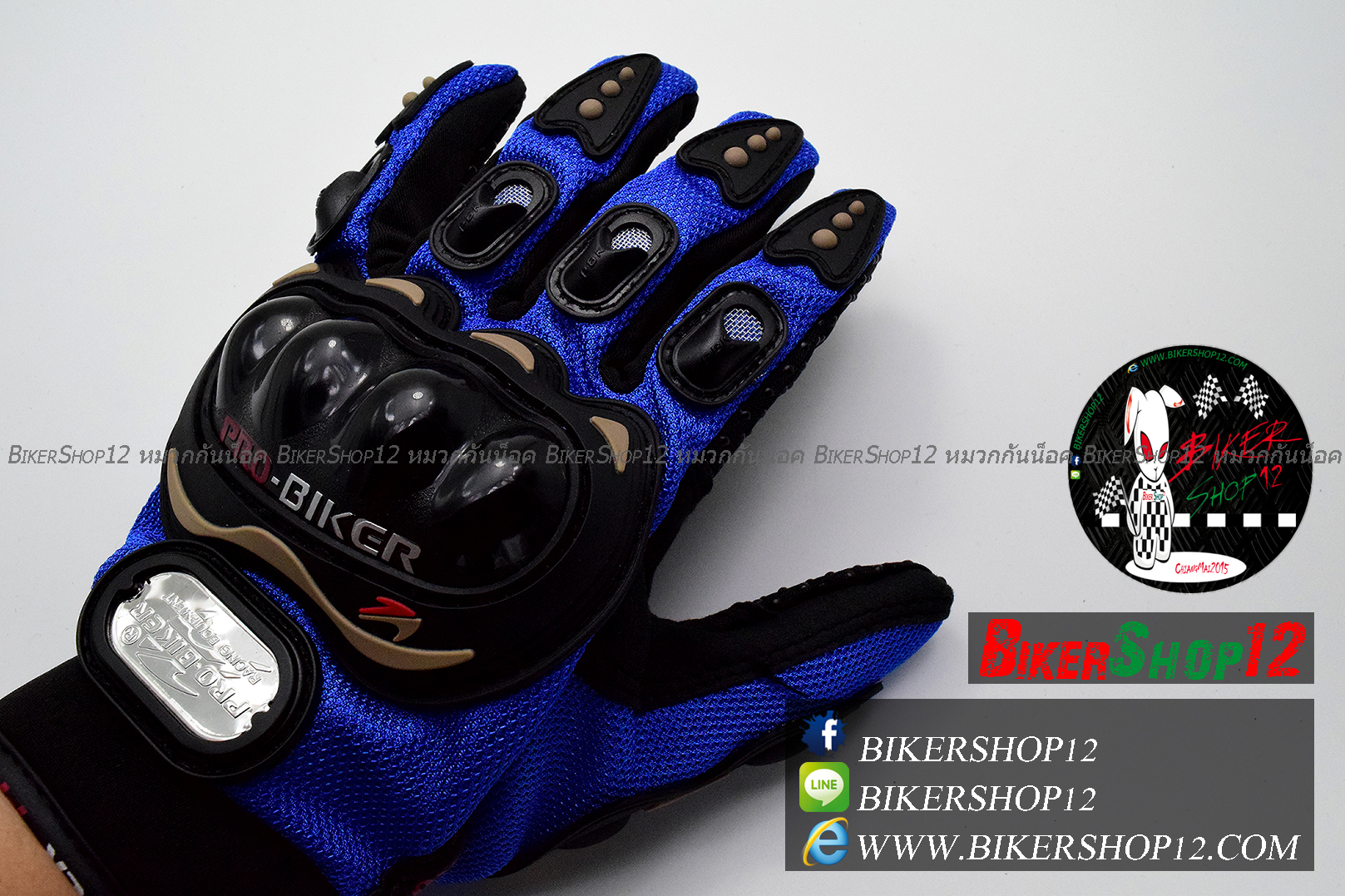 ถุงมือpro-biker สีน้ำเงิน (ราคาพิเศษ)
