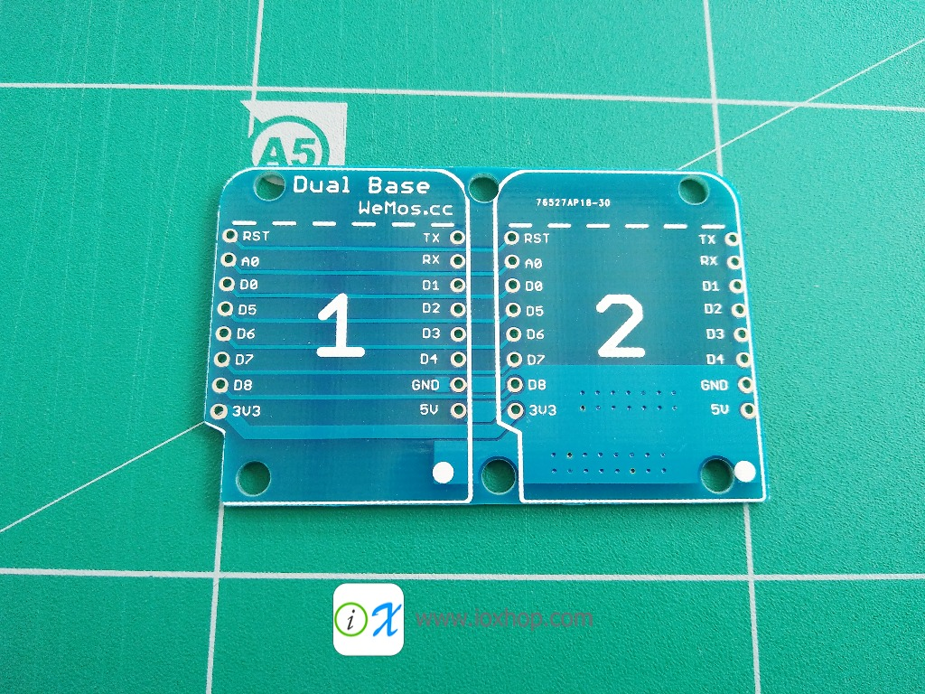 Dual Base for WeMos D1 mini