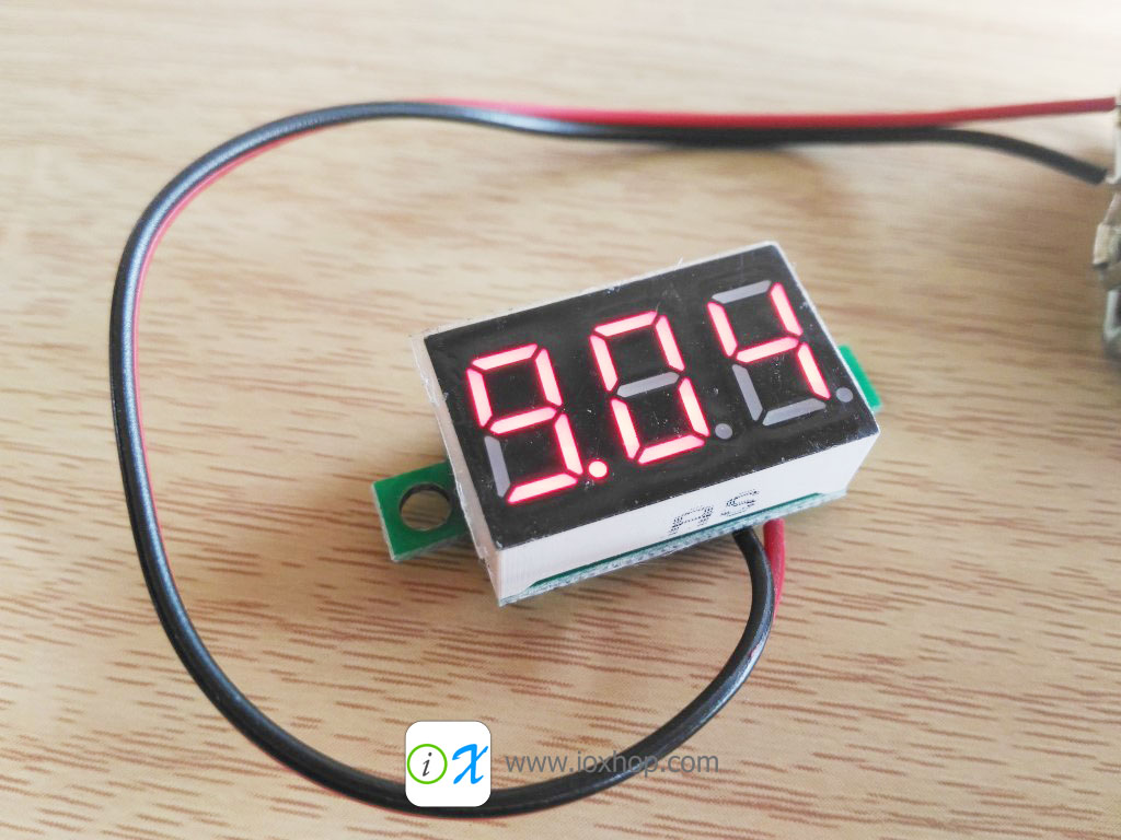 DC 3-30V Mini LED Panel Voltage Meter
