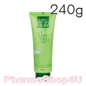 Vitara Aloe Vera Gel 99.5% 240g เจลว่านหางจระเข้เข้มข้น ลดการระคายเคือง เติมความชุ่มชื้นสำหรับผิวธรรมดา-แพ้ง่าย