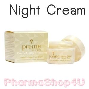 Preme Nobu Natural Collagen Night Cream 30G พรีม โนบุ เนเชอรัล คอลลาเจน ไนท์ ครีม โอบอุ้มผิวยามหลับใหล ด้วยคอลลาเจน 3 ระดับ