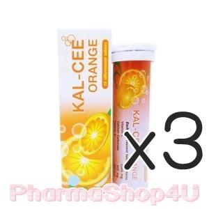 (ซื้อ3 ราคาพิเศษ) (รสส้ม) Kal-Cee 10เม็ด แคล-ซี แคลเซียมเม็ดฟู่ละลายน้ำง่าย ช่วยให้แคลเซียมดูดซึมเข้าร่างกายได้ดี พร้อมด้วยวิตามินดี ช่วยในการดูดซึมแคลเซียม