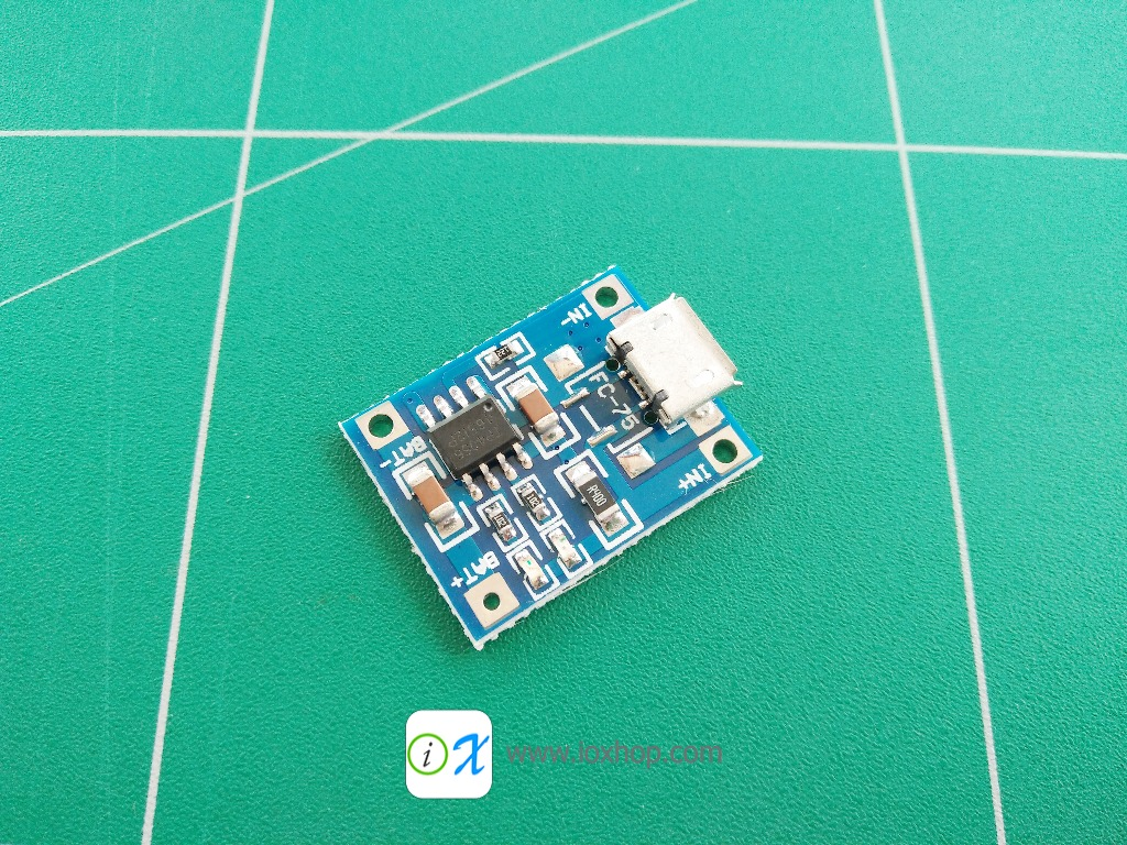 MicroUSB TP4056 1A Lipo Battery Charger Module