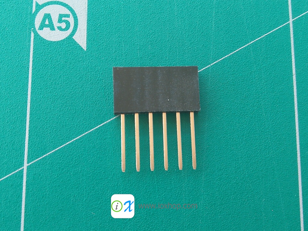 1x6 pin Stackable Female Header