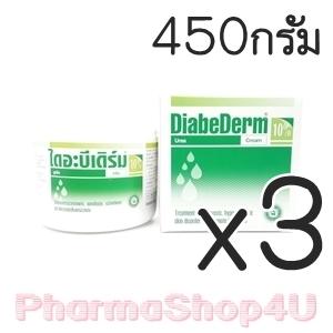 (ซื้อ3 ราคาพิเศษ) Diabederm Urea Cream 10% 450G เพิ่มความชุ่มชื้นให้ผิว ลดการแพ้ระคายเคือง ให้ผิวหนังชั้นนอกหลุดลอกอย่างอ่อนโยน