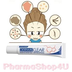 Dermaklear gentle for all skin type 15g เดอร์มาเคลียร์ ครีมสมุนไพร ลดการอักเสบของผิว ลดสิว รอยแดง รอยดำ ฝ้า กระ