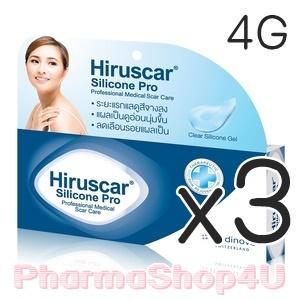 (ซื้อ3 ราคาพิเศษ) Hiruscar Silicone Pro 4 g. ฮีรูสการ์ ซิลิโคน โปร ผลิตภัณฑ์ดูแลรอยแผลเป็น