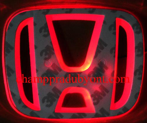 โลโก้มีไฟ HONDA CR-V 07-12 LED แสงสีแดง (ด้านหน้า)