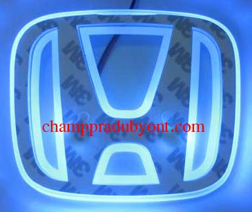 โลโก้มีไฟ HONDA CR-V 07-12 LED แสงสีฟ้า (ด้านหลัง)