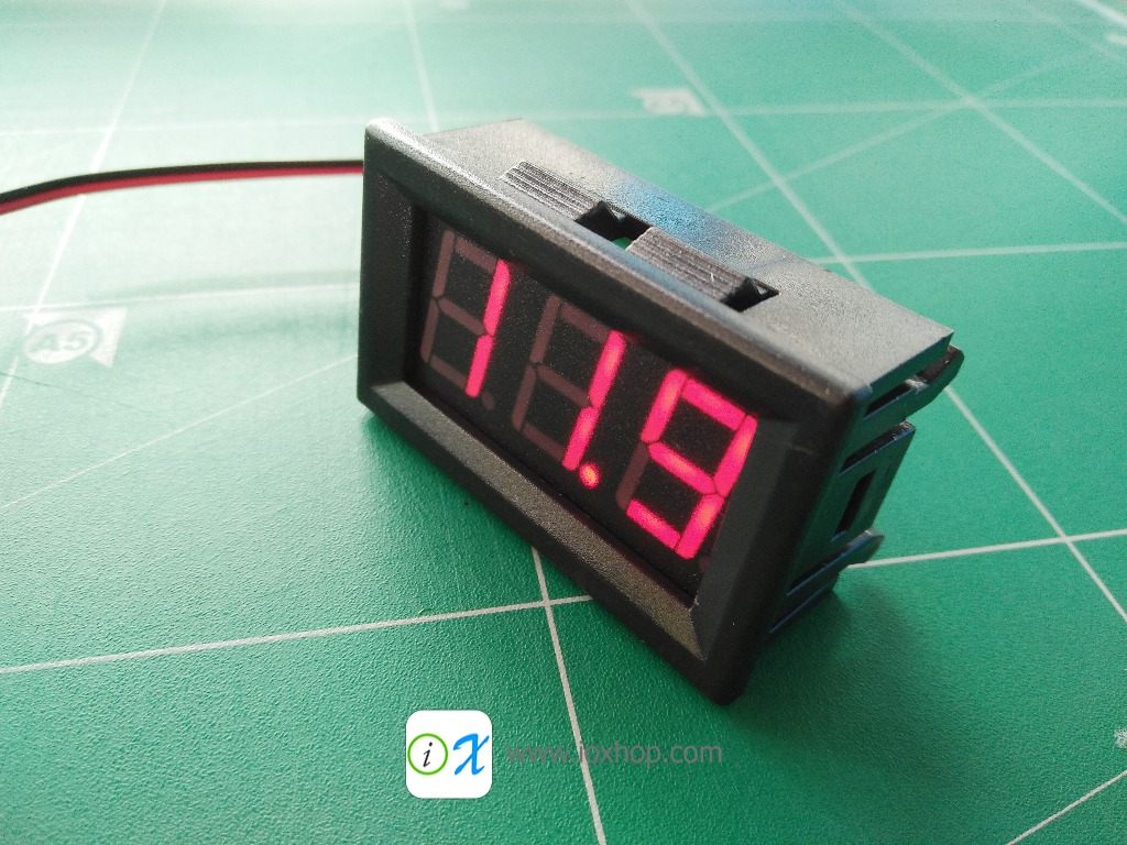 "0.56"" 4.5-30V DC Red LED Panel Digital Voltmeter"